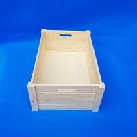 特大号实木箱家用木质收纳箱玩具杂物整理箱长方形储物箱木箱子 松木本色