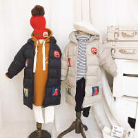 高品质男童女童棉衣中长款 儿童韩版夹棉加厚保暖外套 2017冬装