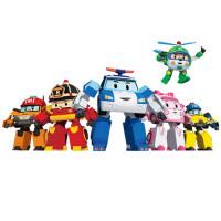 银辉变形警车珀利机器人 全套装poli警长儿童男孩玩具车飞机大号