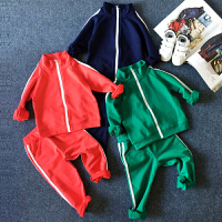 男童女童休闲运动套装韩版两件套小孩衣服2018春装新款潮C859 GG
