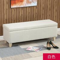 可拆洗布艺换鞋凳储物沙发长凳多功能收纳凳卧室床尾凳试衣间凳子