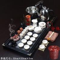 实木茶盘茶具套装紫砂功夫茶具陶瓷礼品全自动电器茶盘茶杯茶壶茶道功夫茶具套装家用整套功夫茶具