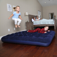 居家家用1-3人充气床垫户外单人双人气垫床植绒蜂窝立柱型便携床
