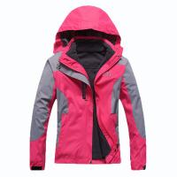 儿童冲锋衣男女情侣户外运动防风防雨保暖耐磨冲锋衣两件套三合一