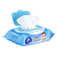 维达婴儿湿巾手口可用80片宝宝柔湿巾带盖洁肤无香湿纸巾