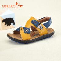 红蜻蜓童鞋夏季新款撞色百搭个性搭扣男童儿童凉鞋511L62311X