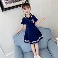 女童连衣裙夏装2019新款韩版网红女童装超洋气学院风女孩棉布裙子