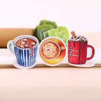 美食物手帐贴纸素材可爱手帐本装饰工具半透明 巧克力饮品