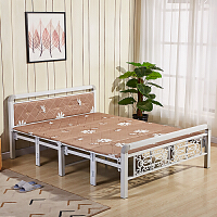 折叠床午休床午睡床硬板床单人床双人床1米1.2米1.5米简易床