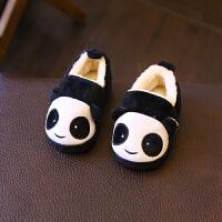 棉拖鞋女包跟可爱宝宝棉鞋男1-3-5岁冬天室内保暖家居鞋 熊猫款
