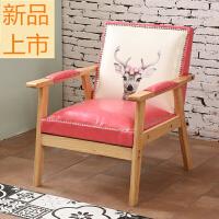 咖啡厅奶茶甜品店桌椅组合影楼休息区接待洽谈复古双沙发定制 粉红色 公主鹿 官方标配