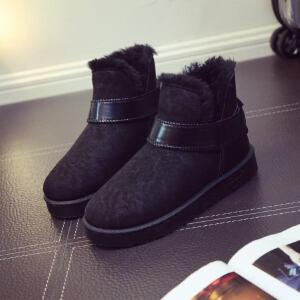 O'SHELL法国欧希尔新品冬季165-K-022韩版磨砂绒面平跟女士雪地靴