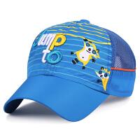 夏天儿童棒球帽男女儿童速干透气网帽户外运动防晒帽子