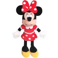 可爱米奇米妮公仔创意米老鼠毛绒玩具布娃娃儿童生日礼物女 红色 S-1米妮