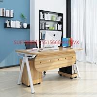 办公桌简约现代家用台式电脑桌时尚老板桌带抽屉职员桌单人办公桌