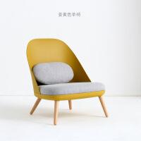 北欧单人沙发椅阳台休闲单椅塑料靠背椅懒人躺椅脚踏老虎椅蜗牛椅