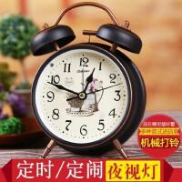 康巴丝闹钟创意简约学生床头钟表静音儿童时钟可爱个性懒人小座钟