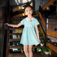 女童夏装裙子2018新款三四五六七10十12岁小女孩子短袖连衣裙