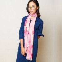长款纯羊毛保暖围脖女民族风简约围巾披肩两用女围巾女