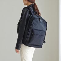 时尚情侣背包短途旅行包衣物收纳包大容量双肩电脑包 黑色 可装15.6寸笔记本