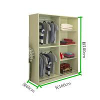 大衣柜简约现代经济型推拉门衣柜衣柜收纳衣柜定制衣柜储物柜 2门 组装