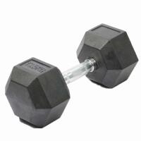 六角包胶钢制哑铃电镀哑铃健身手铃壶铃臂力训练健身器材