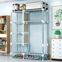 【满减优惠】简易衣柜加厚出租房家用布衣柜钢管加粗加固全钢架现代收纳挂衣柜