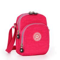 韩版2018新款百搭小包手机包女斜跨包袋夏季装钥匙的小竖包包 玫红色 026玫红色