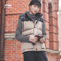 李宁羽绒马甲男士2018新款运动生活系列保暖男装上衣冬季70%白鸭绒运动服AMRN053