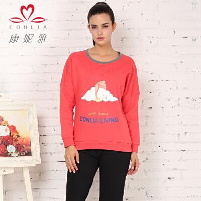 康妮雅冬季新款卫衣 甜美女士文艺范长袖T恤上衣先领卷后购物 满399减50