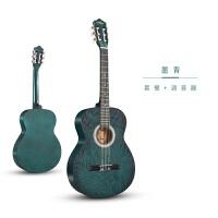 复古39寸古典吉他尼龙弦初学者小吉他男女入门木吉他学生练习吉它 墨青 套餐+调音器