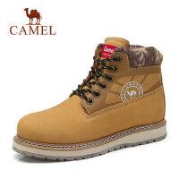 CAMEL骆驼户外工装靴 情侣款马丁靴子牛皮踢不烂大黄靴男女短靴瘦瘦靴