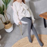 打底裤 女士立体螺纹护腰竖条纹加绒加厚靴裤冬季新款韩版女式时尚休闲舒适踩脚裤
