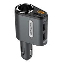 车载充电器一拖二12V-24V快充双USB行车记录仪手机充电器
