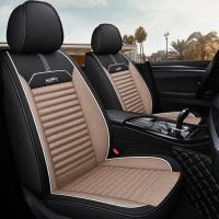 汽车坐垫四季通用亚麻全包围布艺复古座椅套座垫车垫套装全包座套