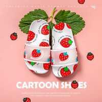 女童拖鞋夏中大童宝宝公主可爱室内家居家用防滑小孩草莓拖鞋儿童