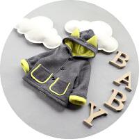 新生儿衣服冬季纯棉加厚加绒宝宝秋冬装外套男童棉衣1-2-3岁棉袄