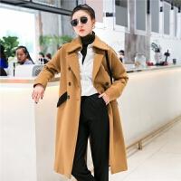 七格格毛呢外套女中长款韩版2018新款潮冬装加厚矮个子妮子羊毛反季大衣