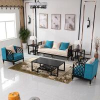 新中式沙发组合港式轻奢沙发会所样板房民宿简约现代中式实木家具 1+ 其他