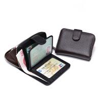 新款女士钱包短款多功能一体化卡包女式皮夹子男士真皮驾驶证皮套