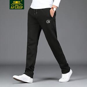 AFS JEEP战地吉普 2017冬季新品卫裤男加绒男士运动休闲卫裤男裤子F1732加绒
