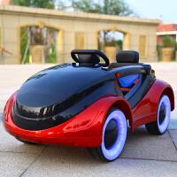 婴儿童电动车四轮遥控汽车可坐男女小孩摇摆童车宝宝玩具车可坐人 烤漆红 遥控+摇摆+早教+皮座椅 四轮闪光