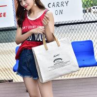 韩式文艺森系学生百搭小清新棉麻帆布包女单肩手提购物袋子