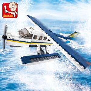 【当当自营】小鲁班航空天地系列儿童益智拼装积木玩具 Z-水上飞机M38-B0361