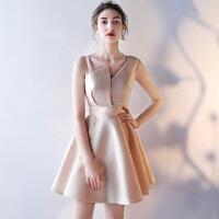 宴会晚礼服2018新款韩版伴娘服短款学生聚会派对小礼服连衣裙少女
