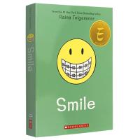 微笑 英文原版 Smile 全彩漫画绘本 Raina Telgemeier 儿童读物 女孩中学到大学的蜕变和成长 纽约