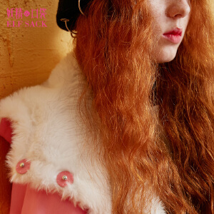 【每满150减50】妖精的口袋沙漠绿洲秋装新款复古宽松连帽系带短款棉服女