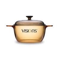 VISIONS康宁 透明玻璃锅 VS-2.5升晶彩透明锅煲汤耐热明火直烧玻璃锅