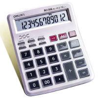 得力语音计算器12位大按键大屏幕商务财务办公用品专用可爱计算机
