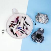 便携懒人化妆包大容量抽绳收纳包出差旅游化妆洗漱用品防水收纳袋